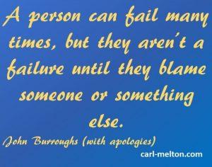 Perseverance, Failure