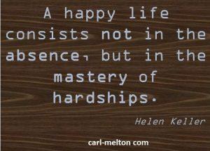 Perseverance, hardship